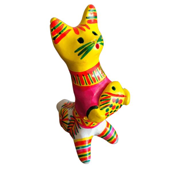 Филимоновская игрушка кот с рыбой