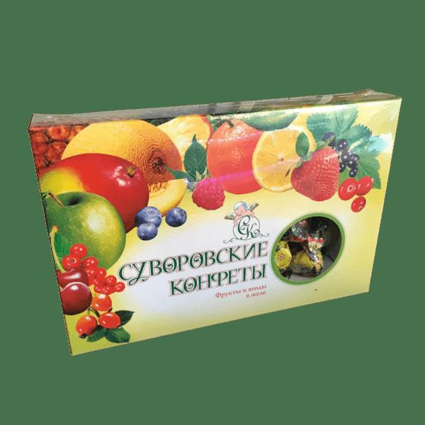 Суворовские конфеты ассорти желейное 800г