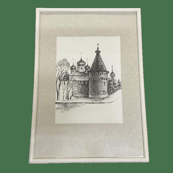 Картина Тульский Кремль Спасская башня, художник Симонова