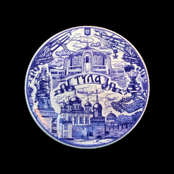 Тарелка 20 см Тульский Кремль гжель