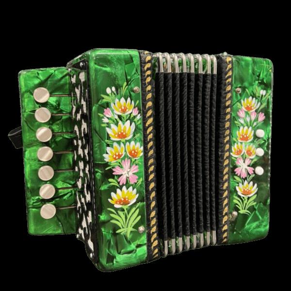 Гармонь сувенирная Кроха зеленого цвета