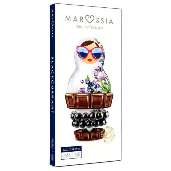 шоколад Маруся с матрёшкой чёрная смородина