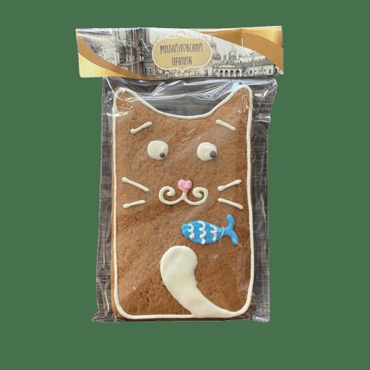 Пряник имбирный котик с рыбкой