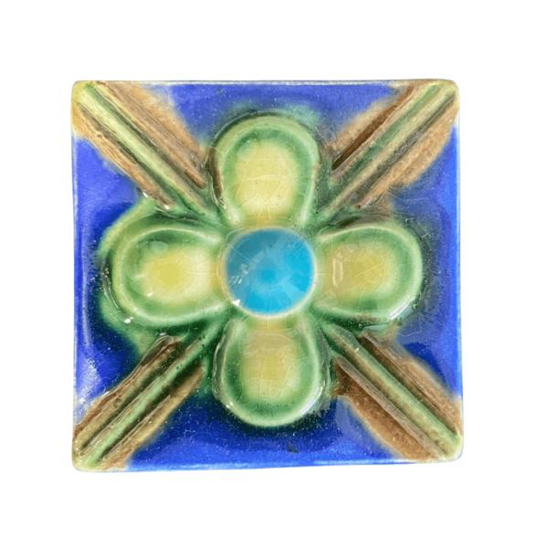 тульский изразец цветок 5х5 см