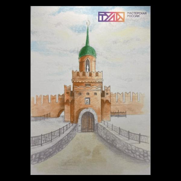 Открытки фирменные Тула Одоевская башня