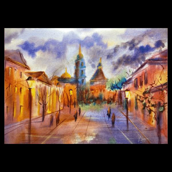 открытка улица Металлистов Тула