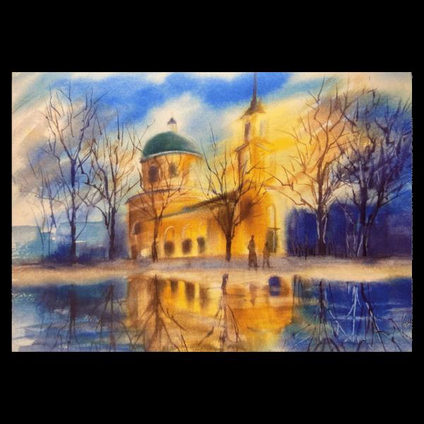 открытка Преображенская церковь