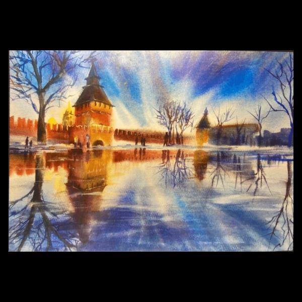 открытка тульский кремль башня