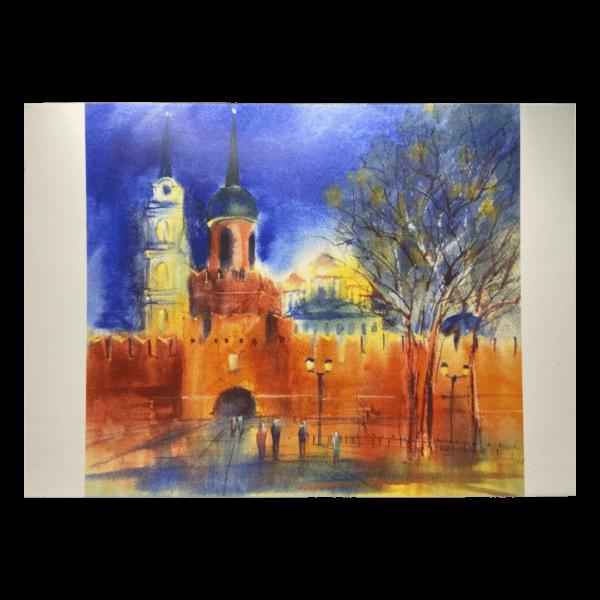открытка тульский кремль одоевская башня