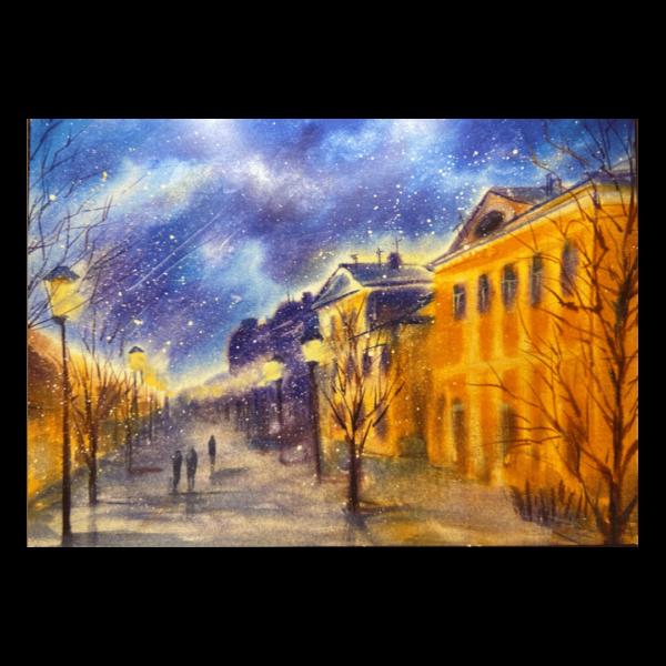 открытка улица Металлистов Тула зима