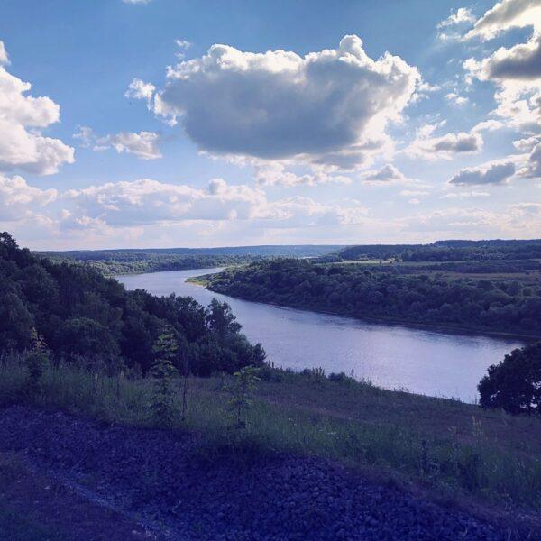 река Ока вид в Поленово