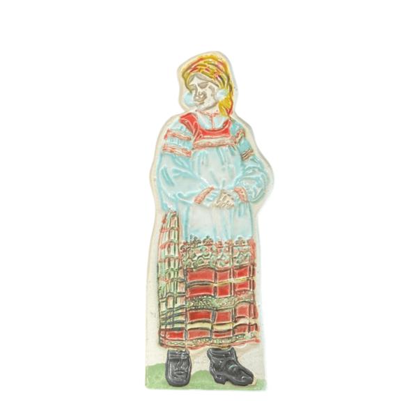 керамический магнит традиционный тульский женский костюм