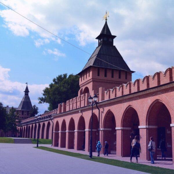 Тульский Кремль вид внутри торговые ряды