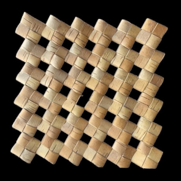 Подставка-коврик плетёный